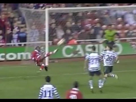 Middlesbrough v Sporting Lisbon Clube De Portugal 2004-05 UEFA Cup R/16 1L JOB AMAZING GOAL