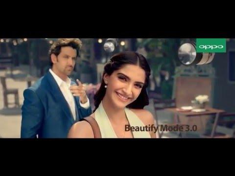 Hrithik Roshan and Sonam Kapoor Oppo F1 duo mobile new ad 2016