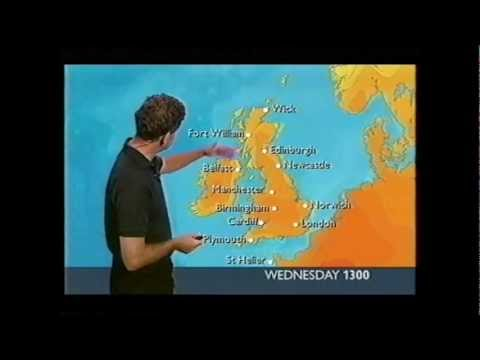 BBC weather 3rd August 2003: 29.8°C at London Weather Centre