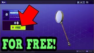 HOW TO GET MAGNIFYING AXE PICKAXE FOR FREE! (Fortnite Old Pickaxe)