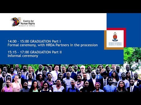Centre for Human Rights Graduation Ceremony