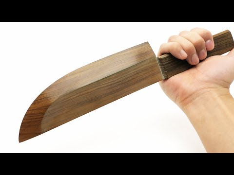 sharpest wood kitchen knife in the world