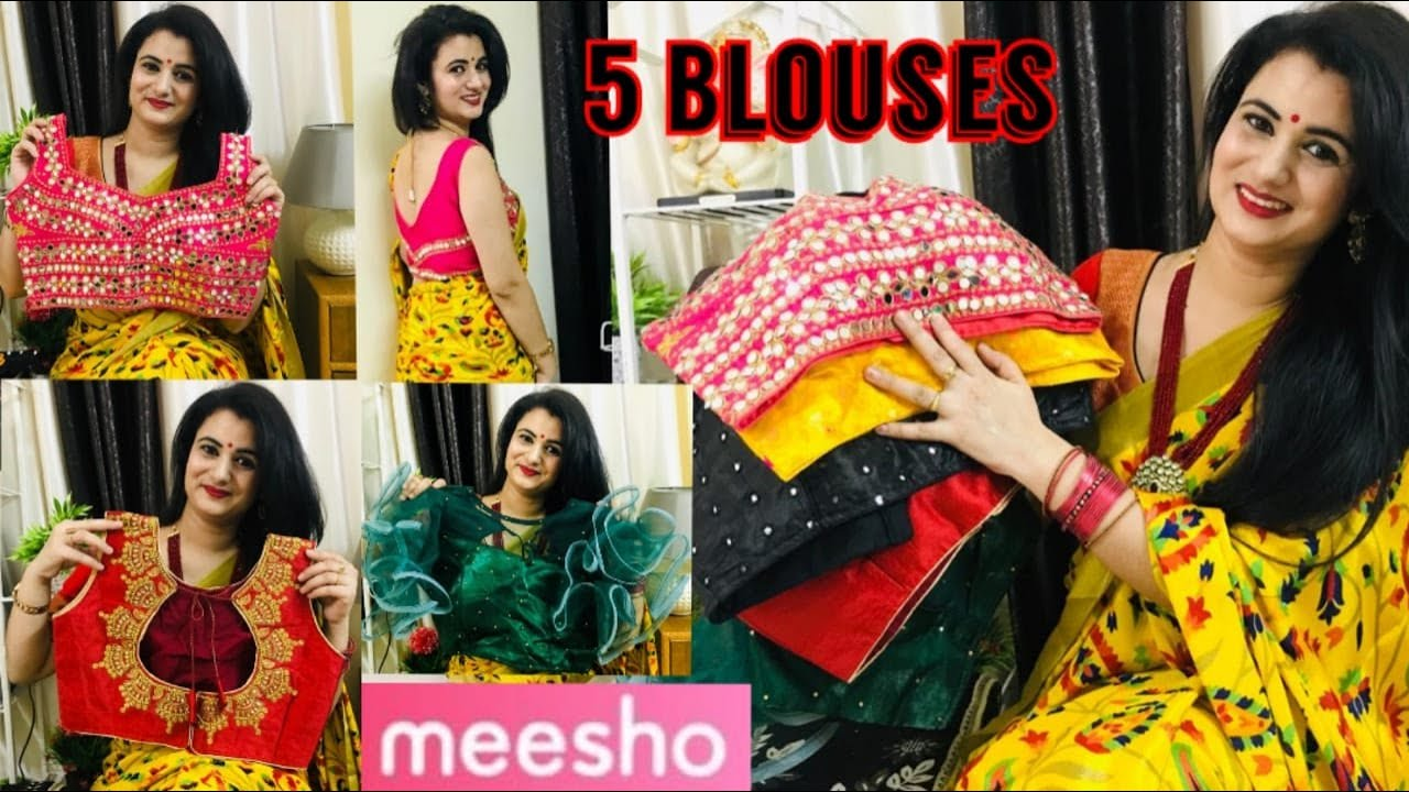 Huge Meesho Blouse Haul | Latest 2020 Blouse Collection | Party Wear Blouse Review | Trendy Blouses