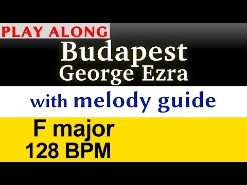 """Budapest"" [George Ezra] Play along karaoke (with melody guide)"