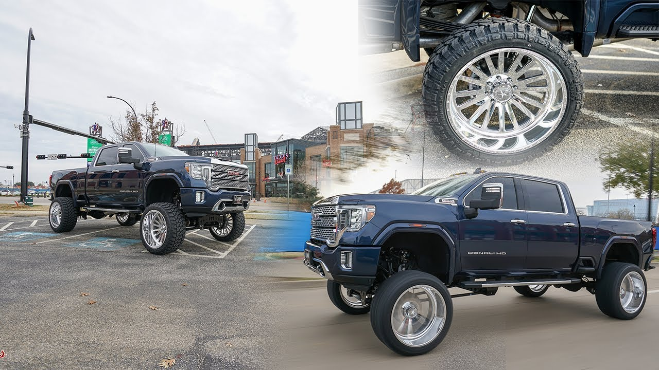 Dallas Texas Lifted 2020 Gmc Denali On 26 Inch American Forces And 12 Inch Fts Lift Kit Youtube