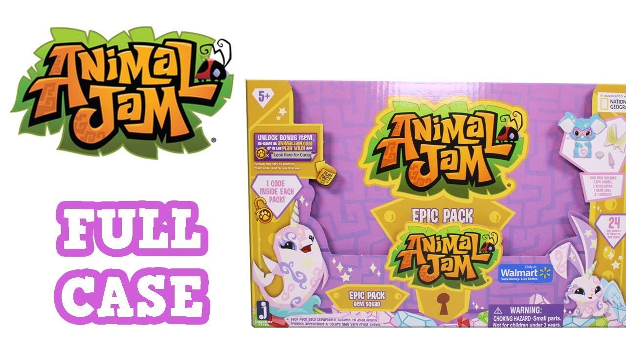 Animal Jam Epic Pack Gem Squad Full Case Unboxing Opening Entire Case Walmart Exclusive