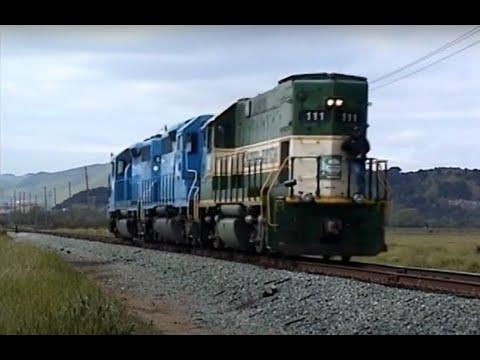 California Northern, Union Pacific & Amtrak at Suisun Junction, CA. April, 2002