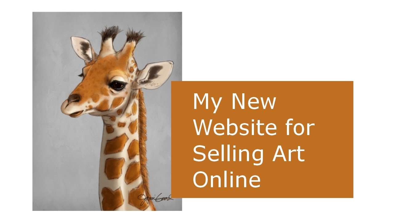 My new squarespace website for selling art online youtube for Sell art prints online