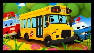 Les roues de l'autobus - Comptines avec les voitures et les camions - Vroum Vroum Touni - Titounis