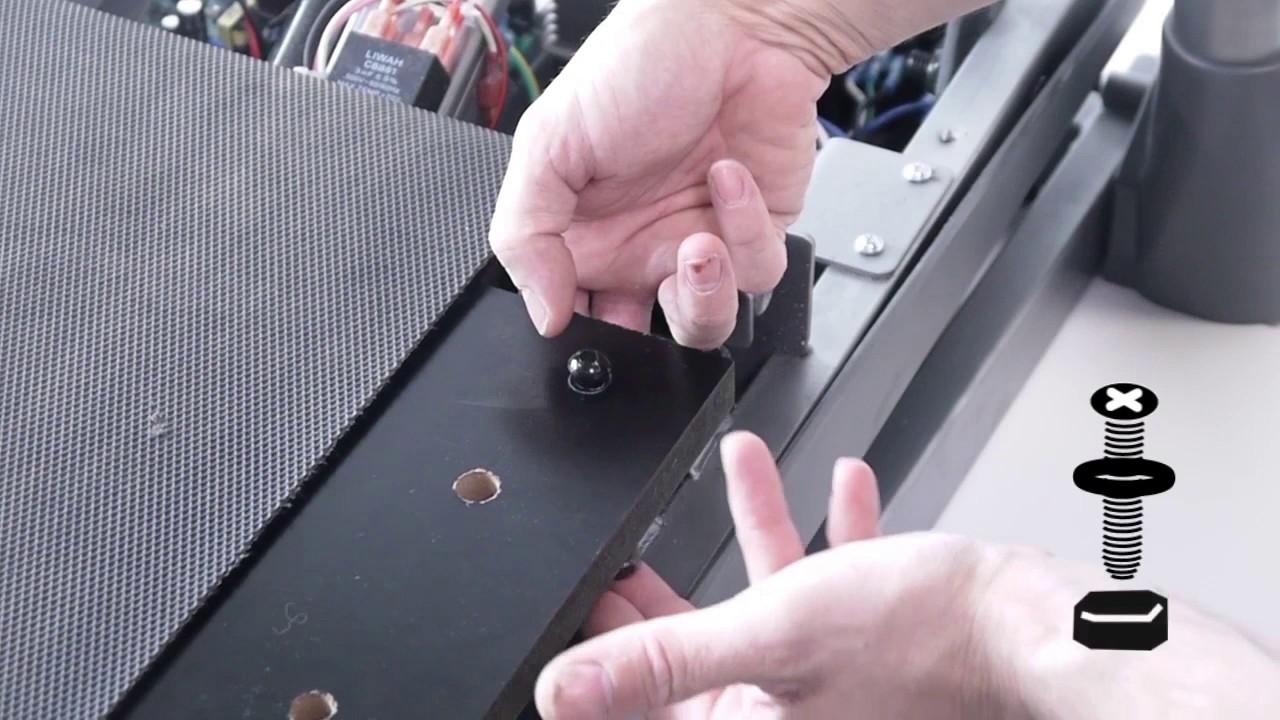 comment changer la planche sur les tapis de course tc2 tc3 tc4 et tc5