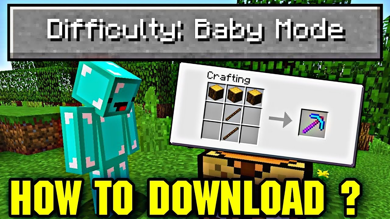 BABY MOD IN MINECRAFT PE FOR ANDROID ? YouTube