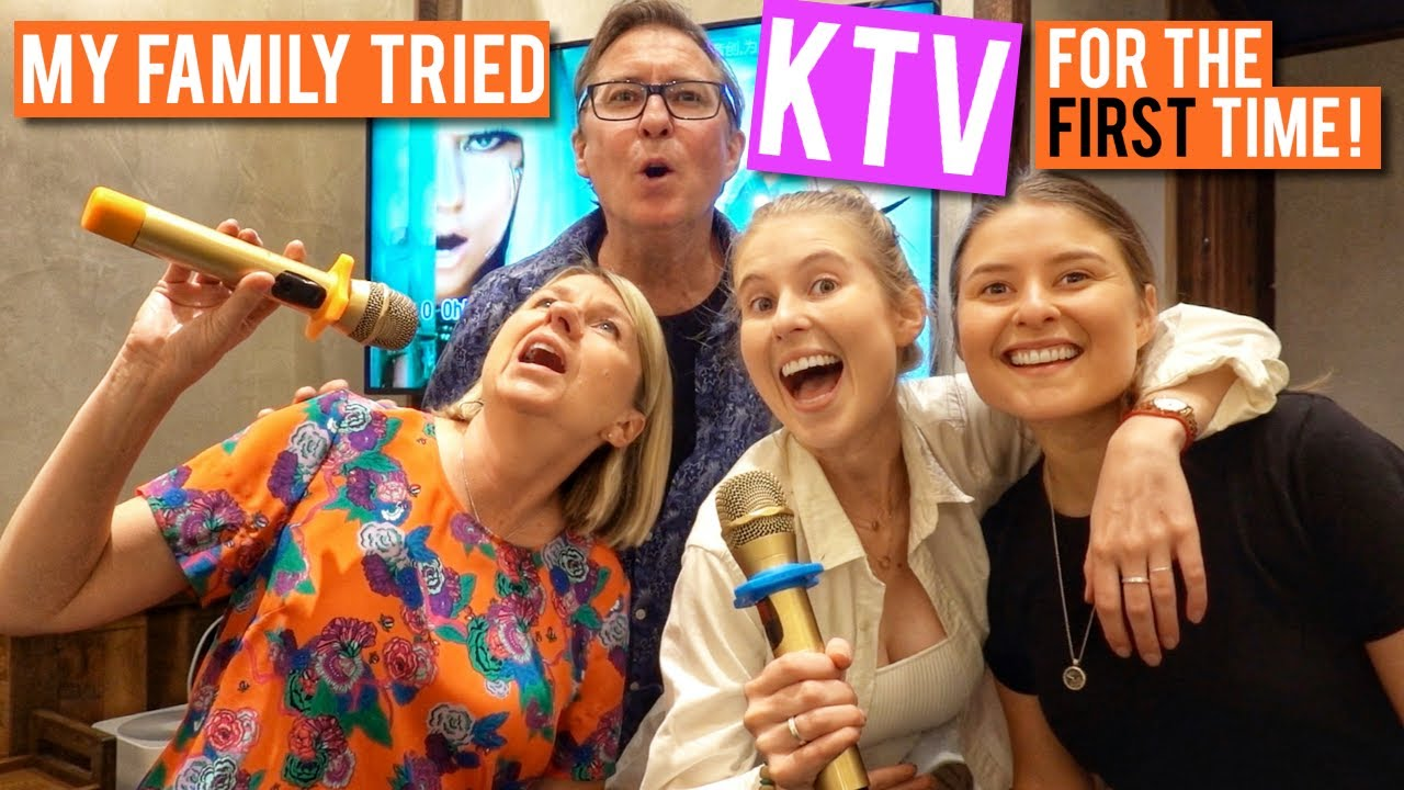 My family tried KTV for the first time.... at a hotpot restaurant!
