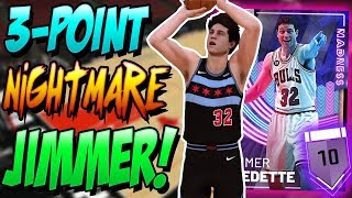 NBA 2K19 MYTEAM PINK DIAMOND JIMMER FREDETTE GAMEPLAY! HALF COURT SHOTS ARE NORMAL FOR HIM!