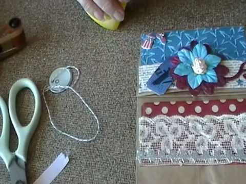 Decorative Paper Lunch Bag with Pockets Tutorial