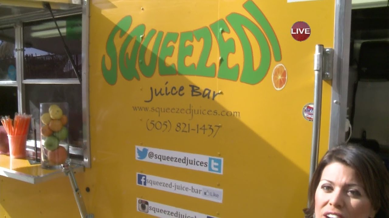Squeezed juice bar food truck youtube for Food truck juice bar