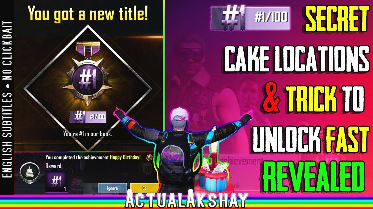 Trick To Unlock 1 100 Title Fast Happy Birthday Achievement