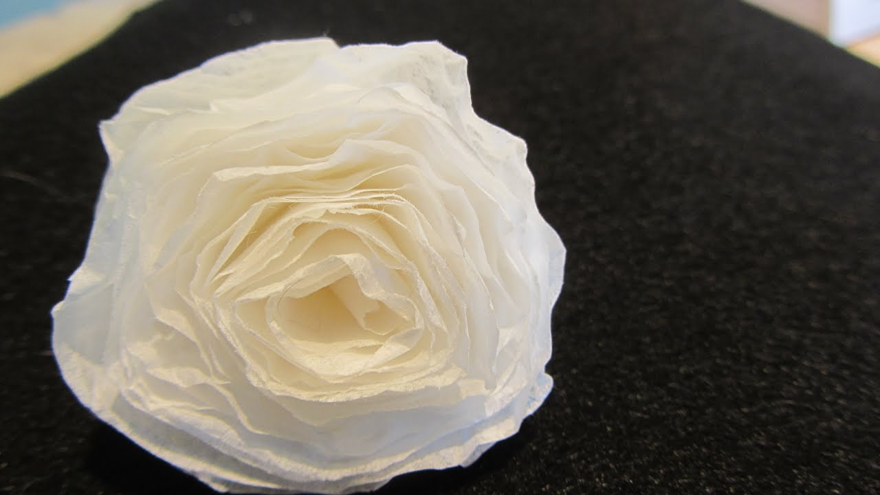 How To Make A Rolled Coffee Filter Paper Rose Quick And Easy Fun