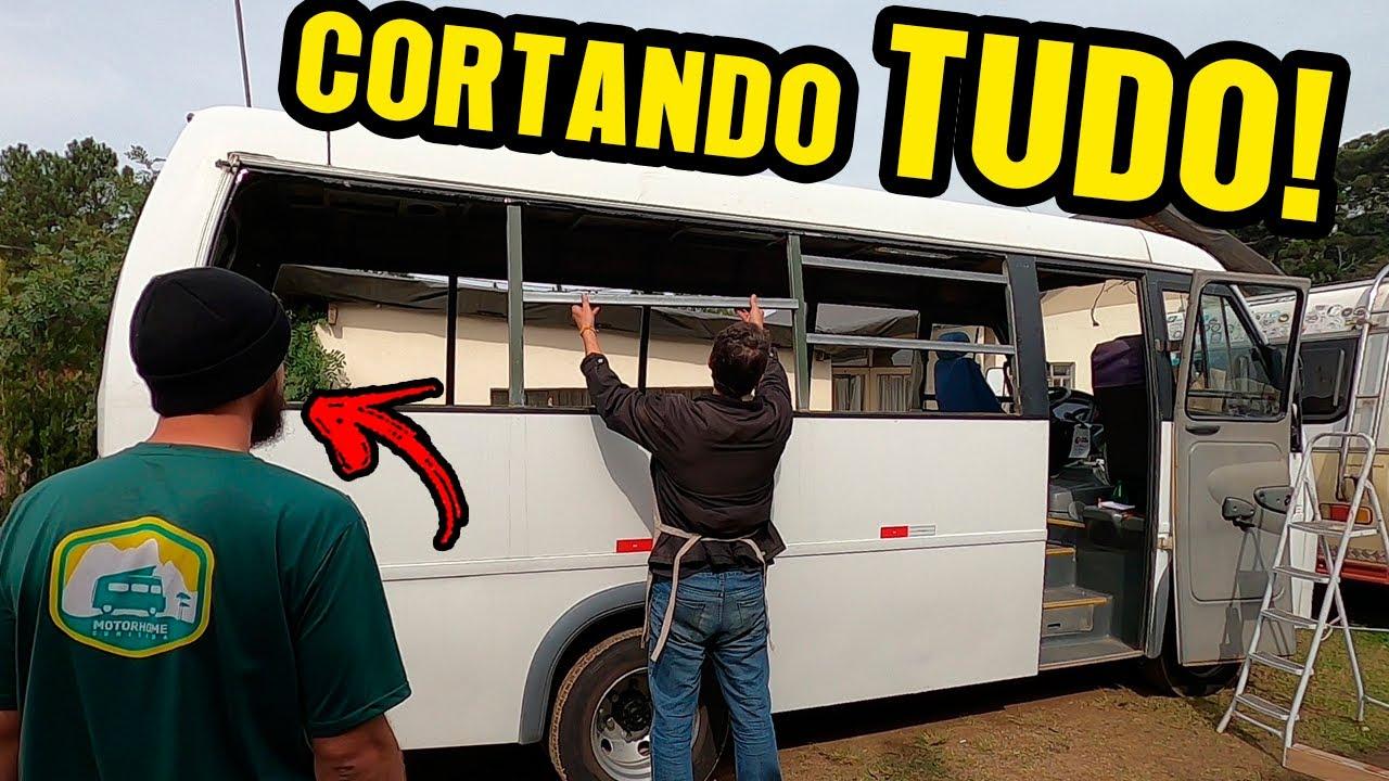 DESMONTAMOS O ÔNIBUS! Construção Motorhome em Micro-ônibus