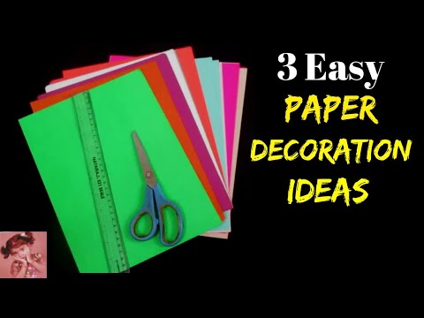 3 Easy Paper Decoration Ideas for Ganesh Festival | Ganesh Chaturthi Decoration at Home 2018