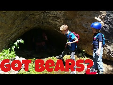 Bear Cave Spelunking with #kids #kidtravel #hiking