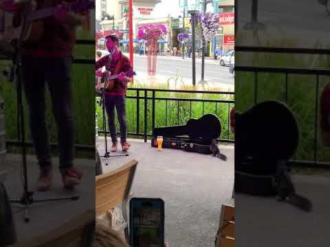 Squirrel Enjoying the live music on KELSEYS, Clifton Hill Patio, Niagara Falls
