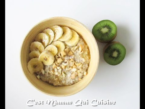 Porridge Banane,Coco et Noix de Cajou