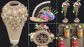 5 Jute craft ideas | Home decorating ideas handmade | #4
