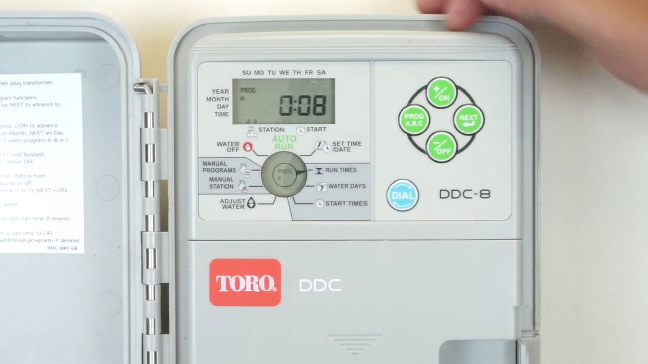 Toro DDC-8 Controller (Model 53808) - How to Set up Run Times