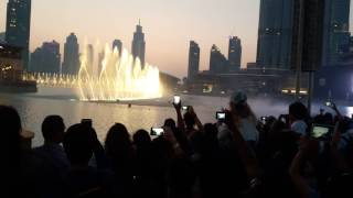 Tallest Building in The World, Burj Khalifa, Water Fountain