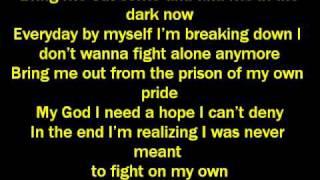 ashes remain on my own lyrics