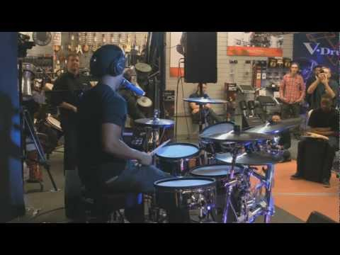 Tony Royster Jr. (Drummer for Jay Z)  Drum Solo On The Roland TD-30KV