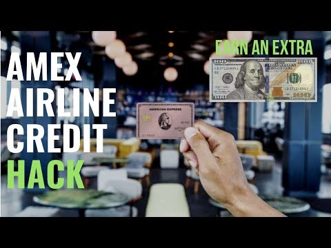 How To Use The $100 AMEX Airline Credit