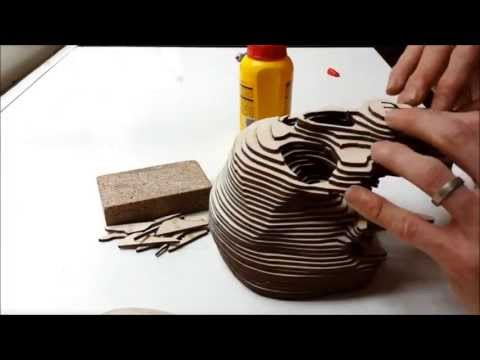 Laser cut wooden scull - by Creative Use of Technology