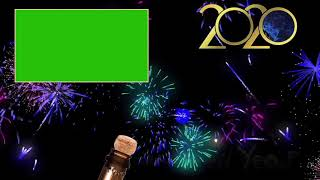 HAPPY NEW YEAR 2020 CLOCK COUNTDOWN FIREWORKS SOUND EFFECTS GREEN SCREEN HD FREE DOWNLOAD