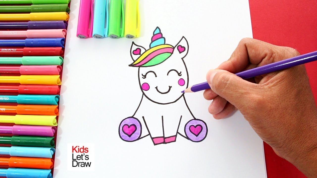 Como Dibujar Un Unicornio Kawaii Facil How To Draw A Unicorn