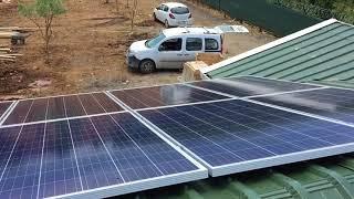 Güneş Paneli İle Günde 20 kw Enerji Üreten Sistemimiz