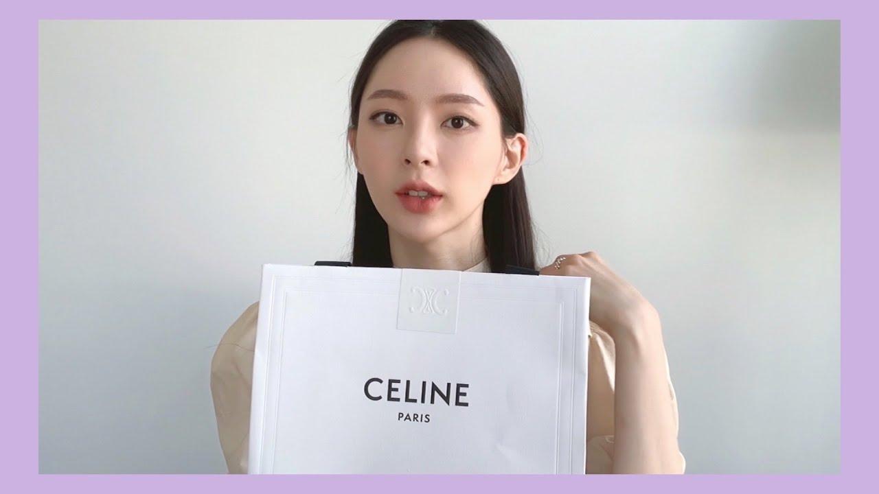 """남자친구가 더빙한 """"셀린느 클래식박스💼"""" 언박싱🎁 (feat. 아무말대잔치) CELINE Classic Box Unboxing Dubbed by My Boyfriend"""