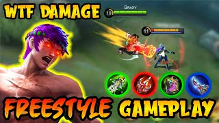 *BROKEN* WTF IS THIS DAMAGE!! | BRAXY CARRY SOLO RANK MYTHIC - Mobile Legends