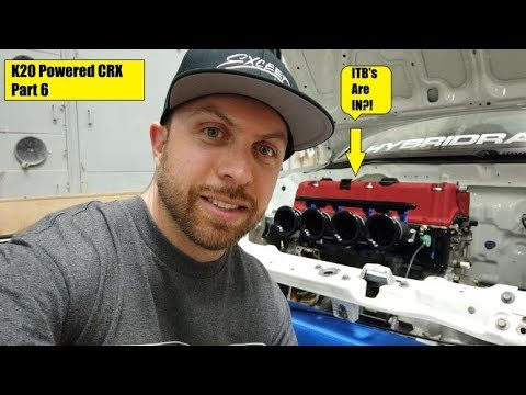 Rywire K20 CRX Build Part 6 ITB Install