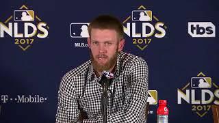 Stephen Strasburg Postgame Interview   Nationals vs Cubs Game 4 NLDS
