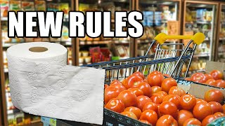 Supermarkets' New Rules  Item Limits And Dedicated Shopping Hours!
