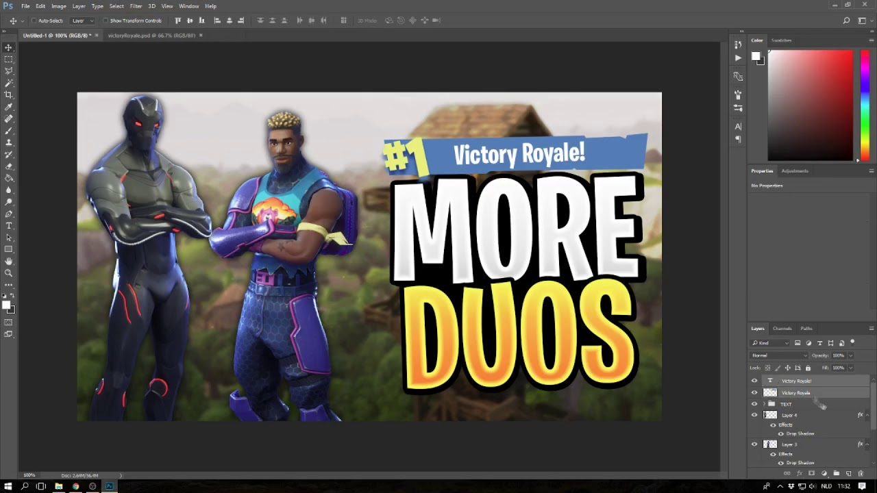 How To Make A Fortnite Thumbnail Youtube Thumbnail Photoshop
