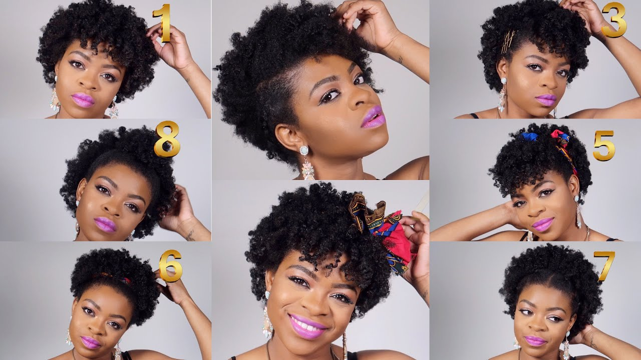 9 quick, easy and simple hairstyles on short natural hair