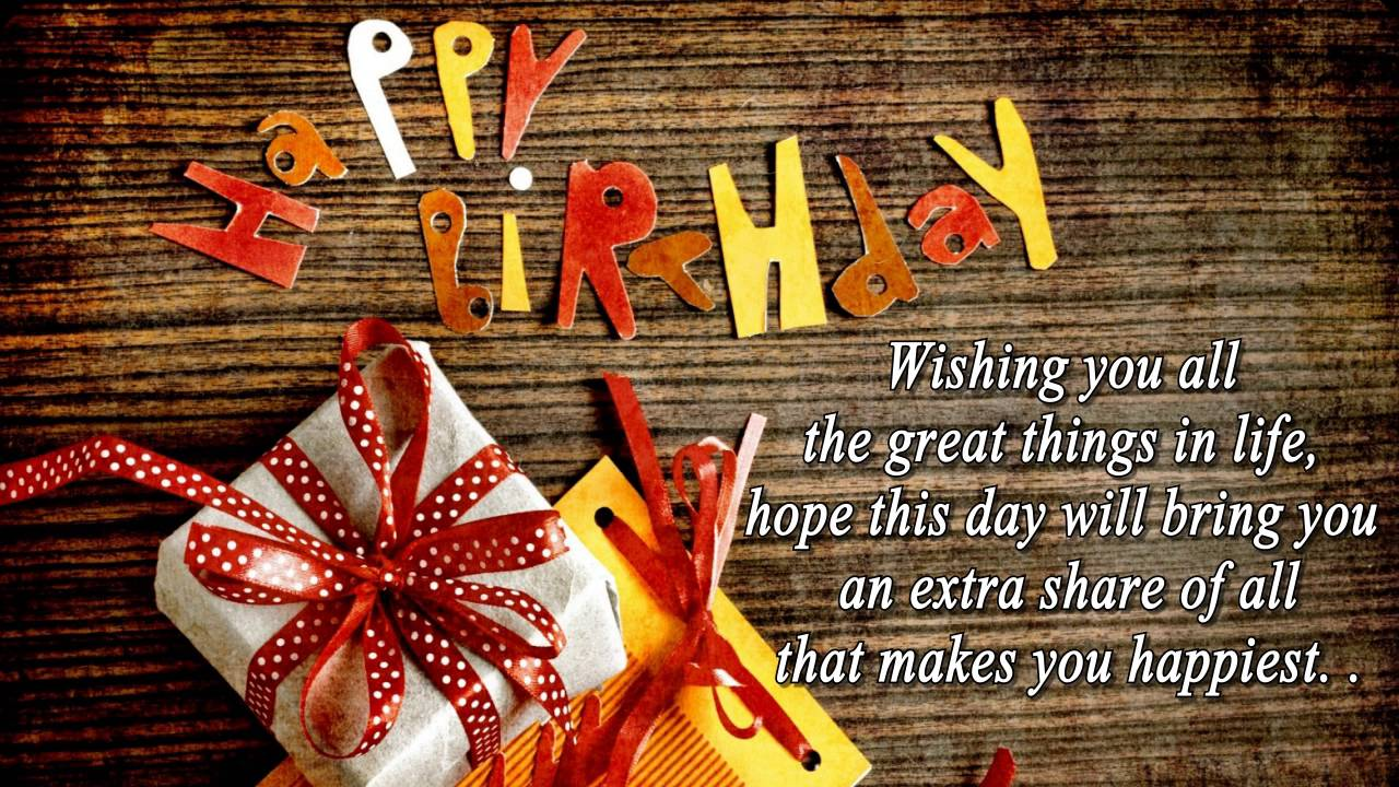 Happy birthday wishes best birthday quotes sms messages bday happy birthday wishes best birthday quotes sms messages bday greetings youtube m4hsunfo