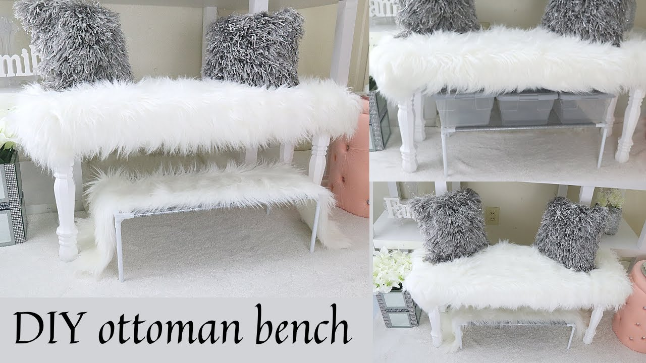 DIY YOUR OTTOMAN BENCH WITH THESE SIMPLE STEPS- easy DIY home decor piece.