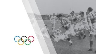 USA take gold in Olympic Rugby - USA vs France - Paris 1924 Olympic Games