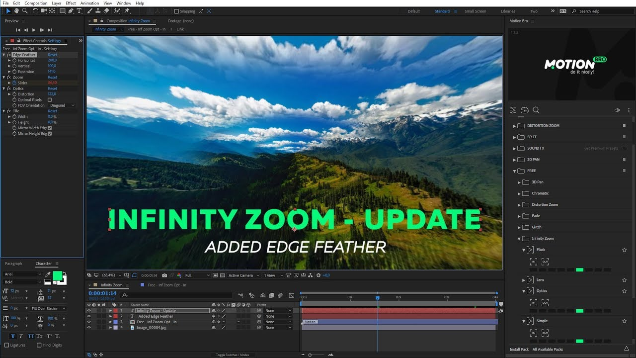 Infinite Zoom – Free After Effects presets – VIDEOLANCER