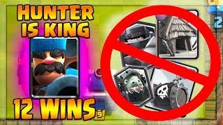 12 Wins HUNTER Giant Prince Deck! Crush the Skeleton Barrel Meta! • Clash Royale