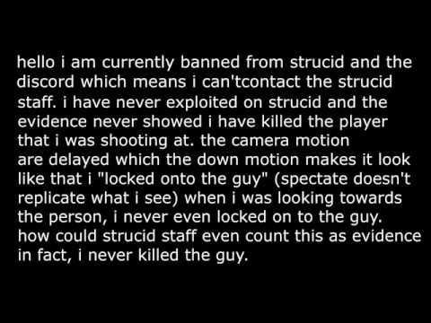 STRUCID FALSE BAN