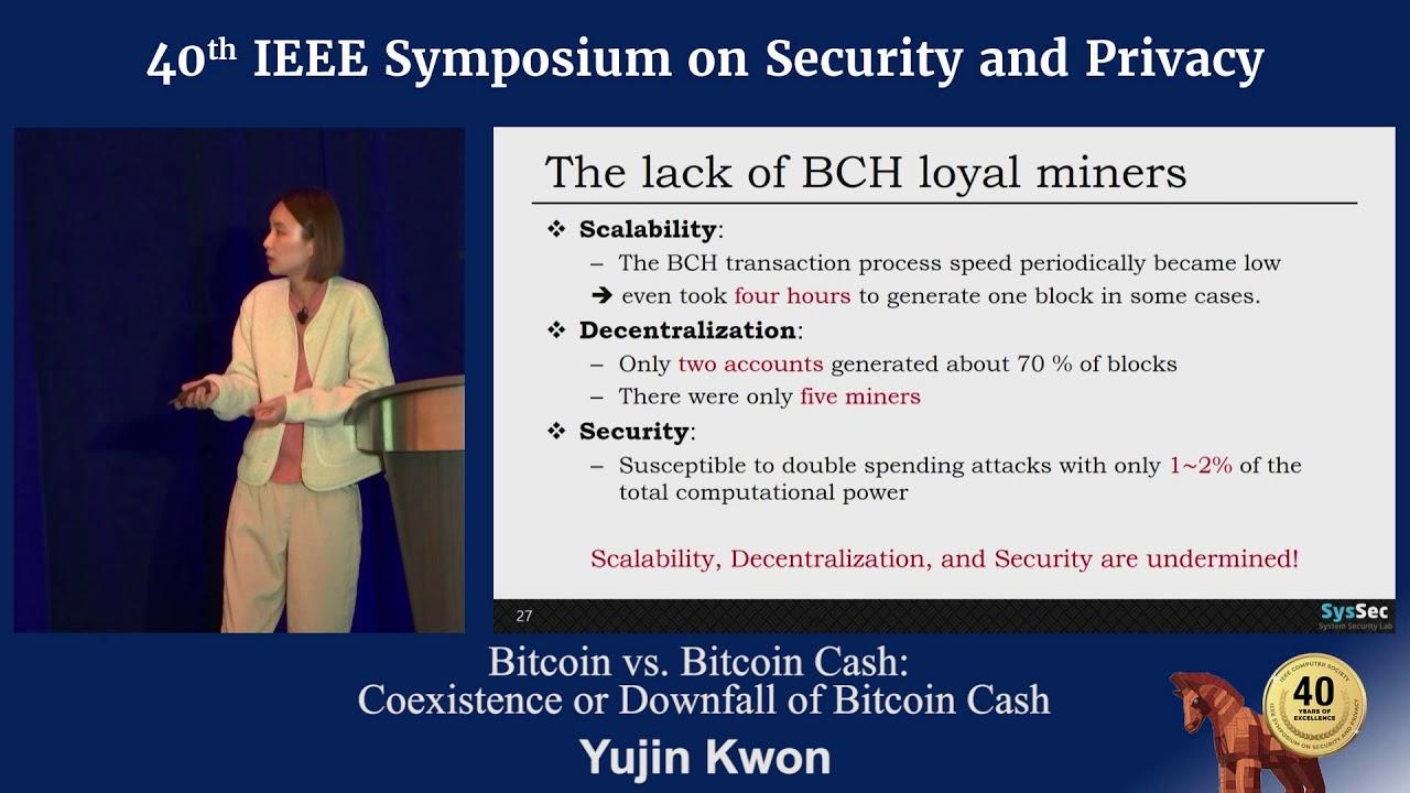 Bitcoin vs  Bitcoin Cash: Coexistence or Downfall of Bitcoin Cash